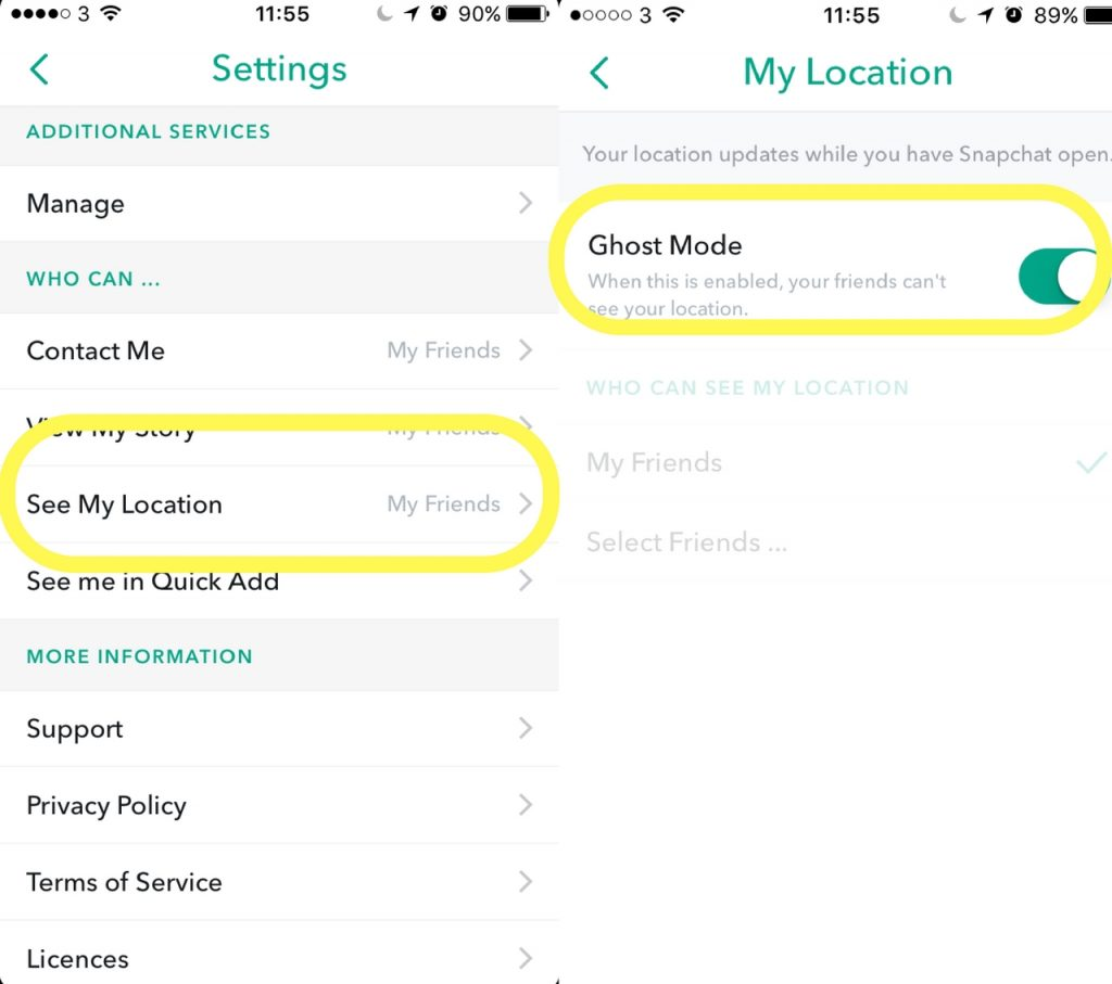 how to use snapchat map location
