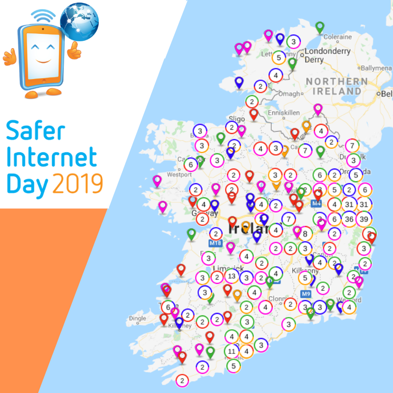 Safer Internet Day Map